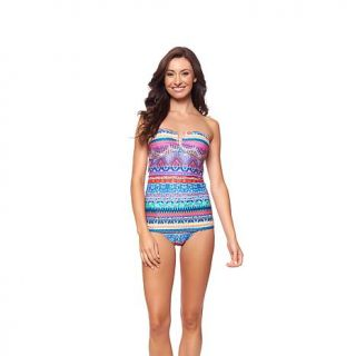 "Jessica Simpson ""Bali Breeze"" Bandeau Swim Dress   8029440"