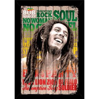 Bob Marley Laugh Poster (24 inch x 36 inch) with Contemporary Poster
