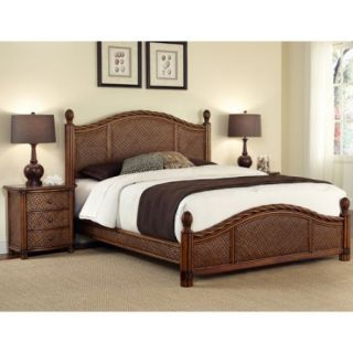 Home Styles Marco Island King Bed and Night Stand, Cinnamon