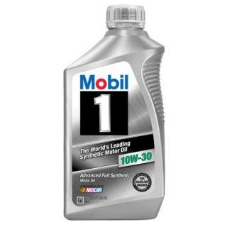 Mobil 1 10W 30 Full Synthetic Motor Oil, 1 qt.