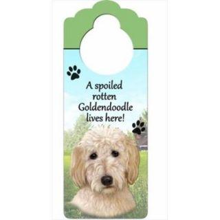 ES Imports 35354 134 Golden Doodle Pet Doorknob Note   Pack of 3