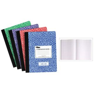Wide Ruled Composition Notebook by Moore Wallace Na Dba Tops