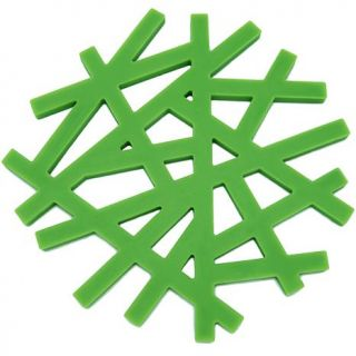 Freshware Set of 2 Silicone Living Tree Trivets   Green   7309868