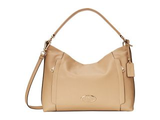Coach Pebbled Leather Scout Hobo Light Nude, Coach