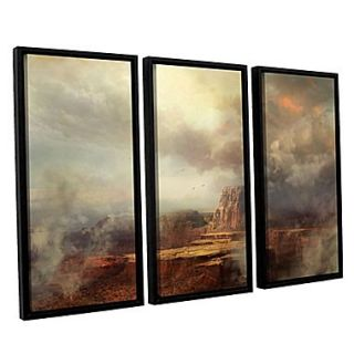 ArtWall Before The Rain 3 Piece Canvas Set 36 x 54 Floater Framed (0str003c3654f)