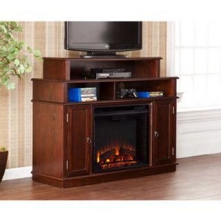 """Southern Enterprises Cumberland Media Fireplace for TVs up to 45"""", Espresso"""
