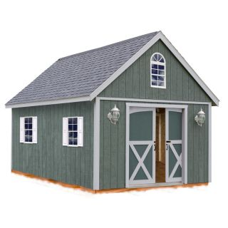 Best Barns Brentwood Without Floor Gable Engineered Wood Storage Shed (Common: 12 ft x 16 ft; Interior Dimensions: 11.42 ft x 15.17 ft)