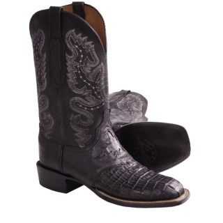 Lucchese Crocodile Tail Western Boots (For Men) 6304J