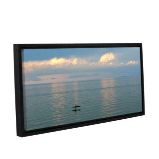 Antonio Raggios Calm Kayaks Gallery Wrapped Floater framed Canvas