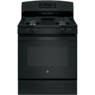 GE 30 in. 5.0 cu. ft. Free Standing Gas Range with Self Cleaning Oven in Black JGB635DEKBB