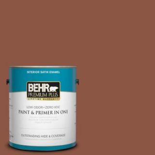 BEHR Premium Plus 1 gal. #S180 7 True Copper Satin Enamel Interior Paint 730001
