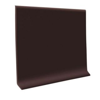 ROPPE 700 Series Brown 4 in. x 1/8 in. x 48 in. Thermoplastic Rubber Cove Base (30 Pieces) 40C72P110
