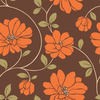 allen + roth Orange Strippable Non Woven Paper Prepasted Classic Wallpaper