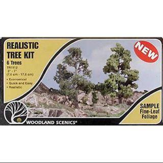 WOODLAND SCENICS TR1112 Tree Kits 3 7 (6) WOOU1112 Multi Colored