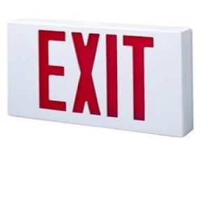 All Pro All Pro White Thermoplastic AC LED Exit Sign with Red Letters APX6R