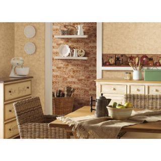 York Wallcoverings Country Keepsakes 15 x 5 Coffee Border Wallpaper