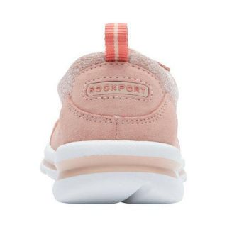 Womens Rockport Rock on Air Lace up Sneaker Pink Haze Suede Wash