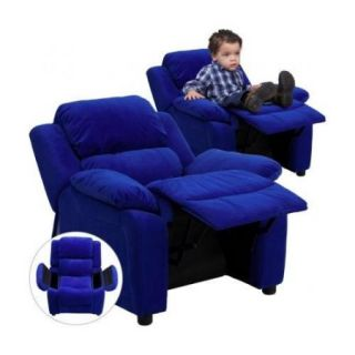 Flash Furniture Flash Furniture BT 7985 KID MIC BLUE GG Deluxe Heavily Padded Contemporary Blue Microfiber Kids