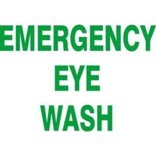 """""""Emergency Eye Wash"""" Sign"""
