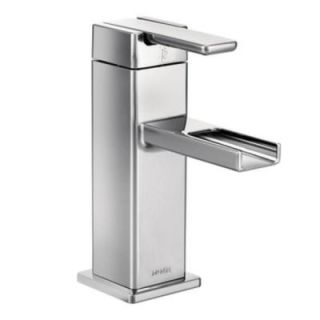 MOEN 90 Degree Single Hole 1 Handle Mid Arc Lavatory Faucet in Chrome S6705