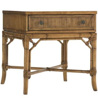 Tommy Bahama 540 953 Beach House Heron Lamp Table in Largo Light Brown