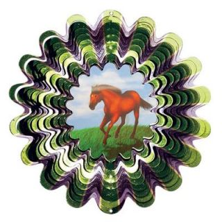 Iron Stop 10 in. Animated Horse Wind Spinner DA240 10