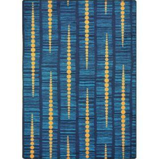 "Joy Carpets Kid Essentials   Teen Area Rugs Recoil, 3'10"" x 5'4"", Blue"