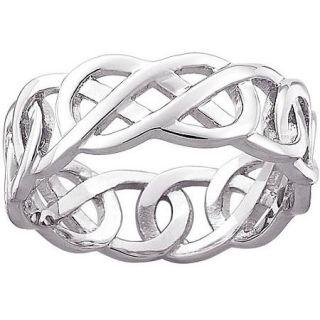 Celtic Knot Wedding Band in Sterling Silver