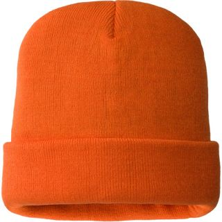 Hands On Mens 100% Acrylic Hi Viz Orange Beanie Hat 40 gm Thinsulate Lined.