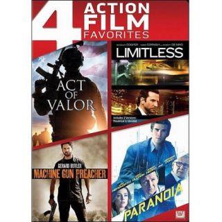 4 Action Film Favorites: Act Of Valor / Limitless / Machine Gun Preacher / Paranoia