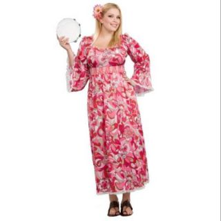 Plus Size Women's Flower Child Costume   Size 16 22