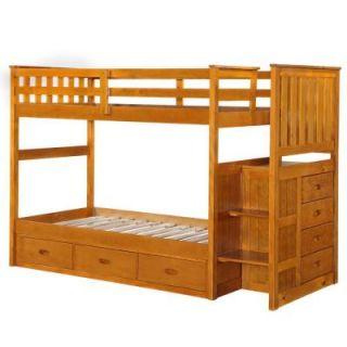 Boraam Fruitwood Twin Size Bunk Bed 97522
