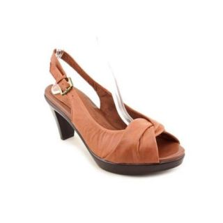 Bella Vita Whim Women US 8.5 N/S Brown Open Toe Slingback Heel