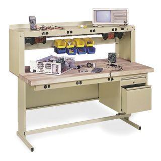 "EDSAL Electronic Technician Workbench, Steel Frame Material, 72"" Width, 30"" Depth   4TW71 EWP72305   Grainger"