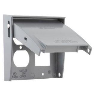 2 Gang Weatherproof Flip Lid Device Cover 5033 0