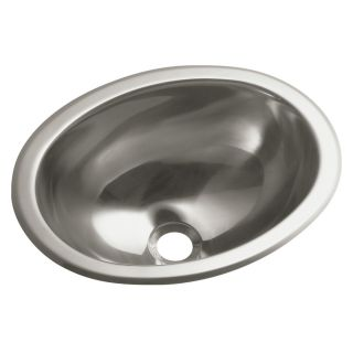Entertainment No Hole Oval Undermount / Self Rimming Bathroom Sink by