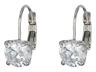 Cole Haan Lever Back Cubic Zirconia Earrings Silver/Crystal