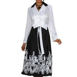 Divine Apparel Womens Plus Size Ribbon Embellished Shirt Dress