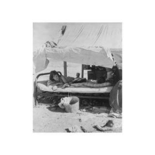 Oklahoma Potato Picker's Family Encamped Print (Unframed Paper Print 20x30)