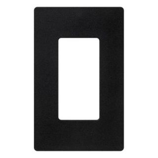 Lutron Claro 1 Gang Decora Wall Plate   Black CW 1 BL