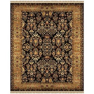 Feizy Amore Wool Pile Traditional Rug, 5 x 8, Black/Gold