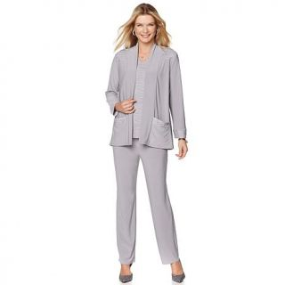 "Antthony ""Luna Skye"" 3 piece Draped Jacket, Top and Pant Set   7957506"