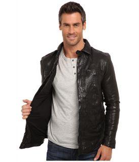 Kenneth Cole Sportswear Washed Leather Shirt Jacket