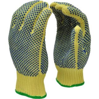 G & F Cut Resistant 100 Percent Kevlar Gloves with PVC Dots on Both Sides, X Large, 1 Pair