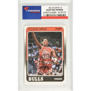 Scottie Pippen Chicago Bulls  Authentic Autographed 1988 89 Fleer Rookie #20 Card
