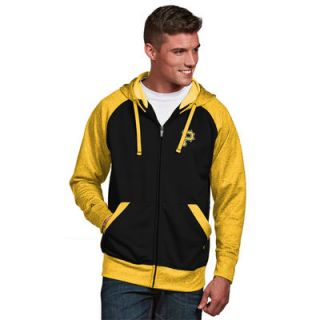 Pittsburgh Pirates Antigua Strategy Full Zip Jacket   Black