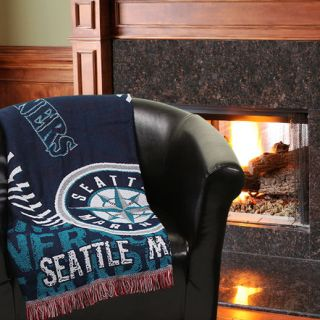 Seattle Mariners 48 x 60 Double Play Triple Woven Jacquard Throw