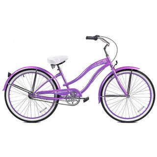 Women's 26 Inch Micargi Purple Rover NX3 Beach Cruiser Bike    Micargi Bicycles