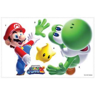 Room Mates Popular Characters Mario Yoshi Giant Wall Decal