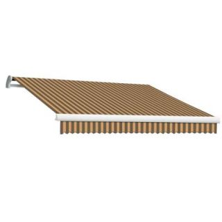 Beauty Mark 18 ft. MAUI EX Model Manual Retractable Awning (120 in. Projection) in Brown and Tan Stripe MM18 EX BRNT